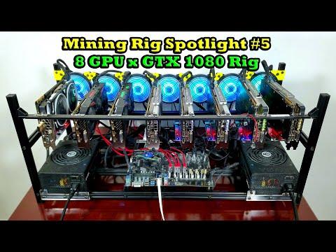 8 GPU X GTX 1080 Mining Rig Spotlight | Mining Rig Spotlight #5