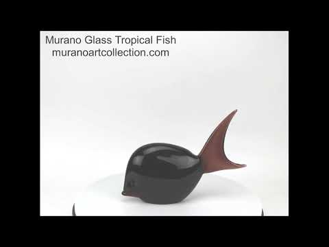 54-102 Murano Glass Tropical Fish