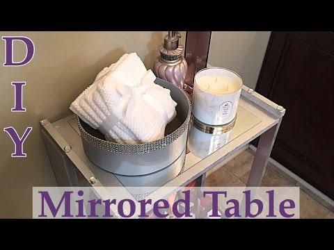 DIY Mirrored Table / Bathroom Organizer plus Ways to Style