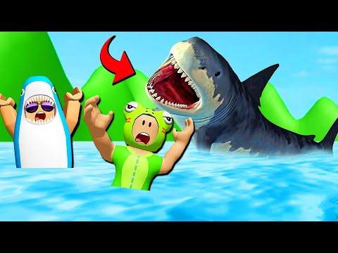 กบหลาม Vs ฉลามดุ - Roblox