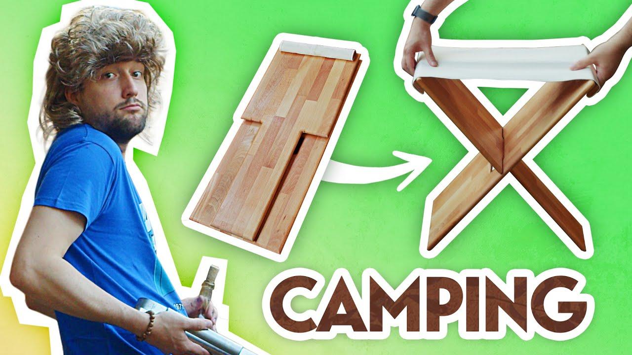 THE chaise CAMPING transportable !! Vous avez VOTÉ ! On a construit DIY !