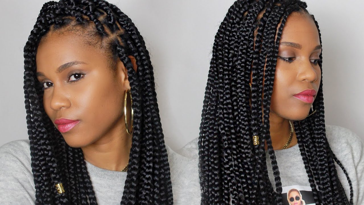 How To Medium Size Box Braids Youtube