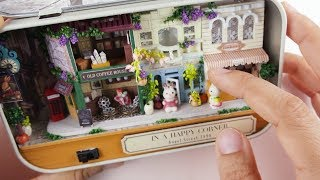 Miniature DIY KIT | In a happy corner box theatre | jjuingmini