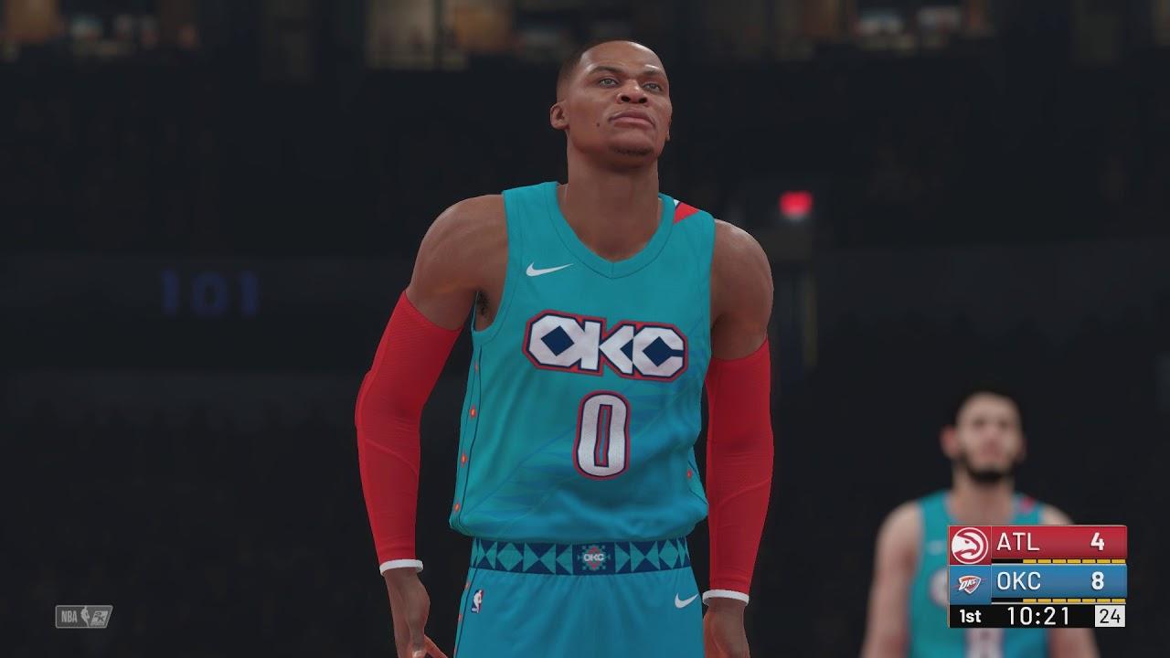 NBA 2K19 - Atlanta Hawks vs Oklahoma City Thunder (City Jerseys ... 4589294de
