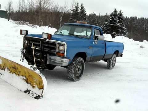 Dodge Plow Truck >> 90 Dodge Snow Plow Youtube