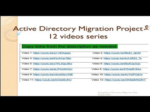 ACTIVE DIRECTORY Migration project Part 13  by Enayat Meer