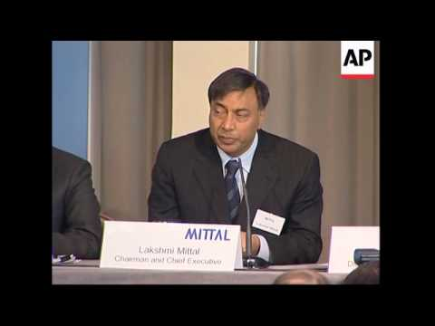 Mittal Steel CEO presser on merger with French Arcelor