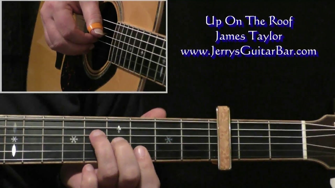 James Taylor Up On The Roof Intro Guitar Lesson Youtube