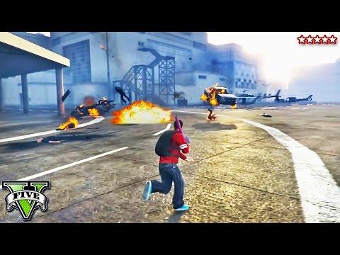 GTA 5 Online | FIVE STAR RAMPAGE w/The Stream Team | Epic Hydra Destruction!! GTA 5 Funny Moments