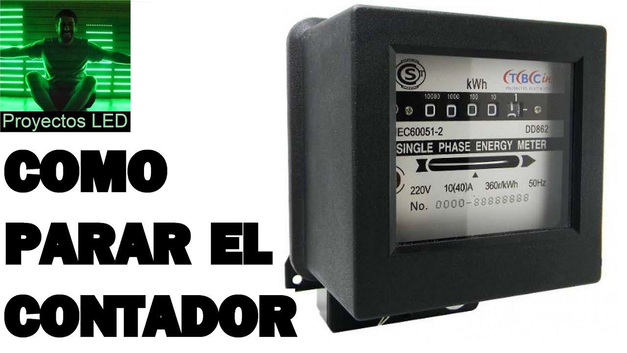 Como parar y retroceder el contador de luz medidor de - Como ahorrar agua y luz ...