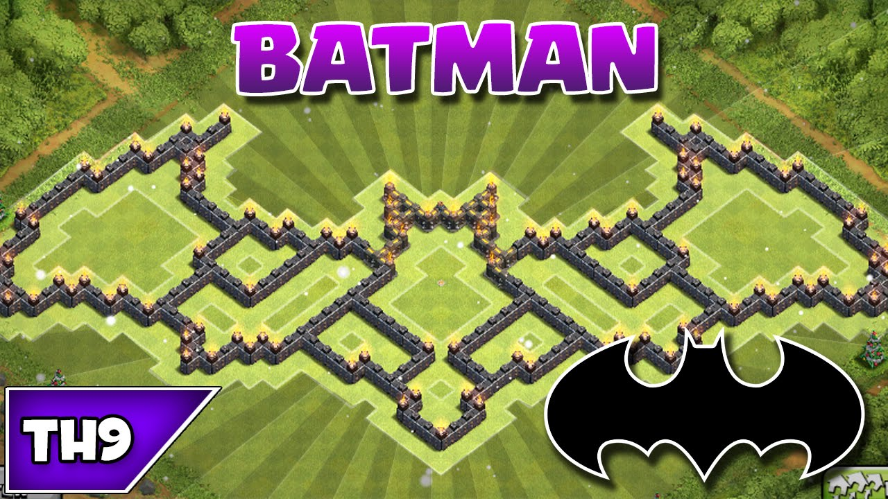 Clash of clans best townhall 9 batman farming base 2015 youtube
