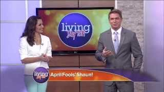 tv anchor/host gets pranked on april fool's day