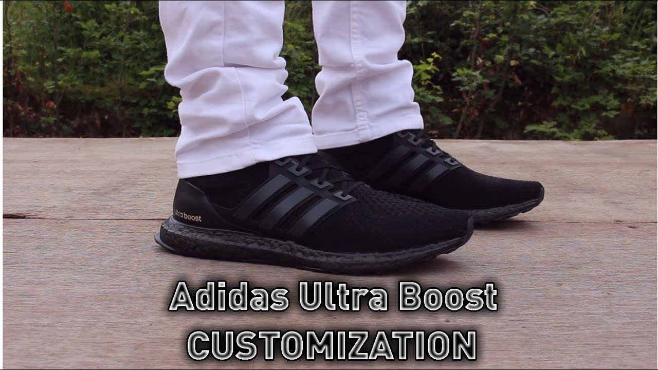 Adidas Ultra Boost Blackout Custom