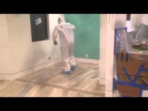 Bleach Finish Hardwood Floor Youtube