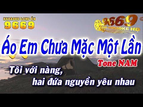 Karaoke Áo Em Chưa Mặc Một Lần | Tone Nam beat chuẩn | Nhạc sống LA STUDIO | Karaoke 9669