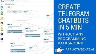 كيفية إنشاء برقية chatbot في 5 دقائق مع أي معرفة البرمجة - برقية بوت التعليمي