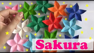Repeat youtube video FLOR DE ORIGAMI SAKURA