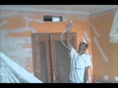 Wagner iberica aircoat airmix pintando techos pintura - Como pintar techos ...