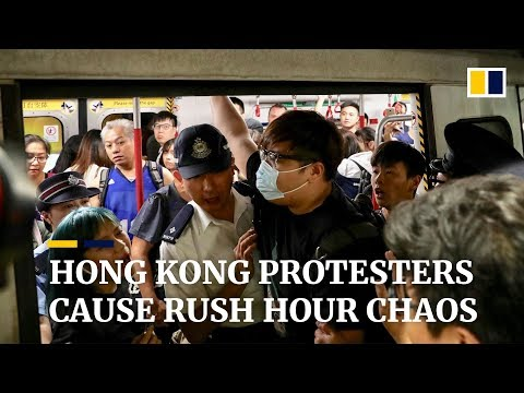 extradition-bill-protesters-cause-rush-hour-chaos-in-hong-kong-by-blocking-main-mtr-rail-line
