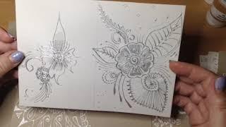 Мехенди акрилом. Мой опыт рисования.