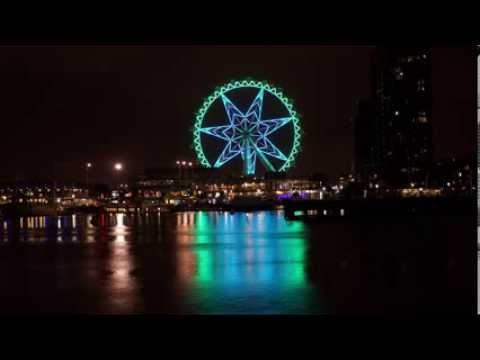 The Melbourne Star Observation Wheel light show time lapses using Sony NEX 6
