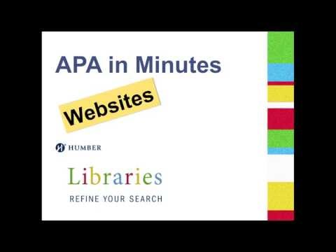 Apa In Minutes Websites