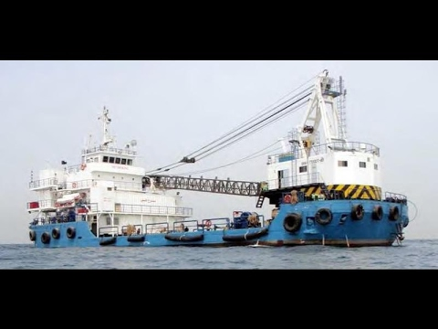 47m Offshore Diving Support Crane Ship - 120 ton lift - Surf