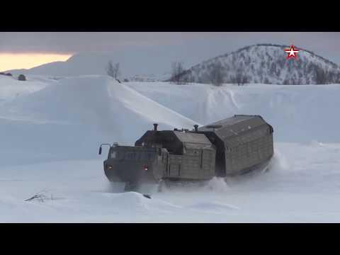 Кадры работы вездеходов ДТ-30 «Витязь» в Арктике