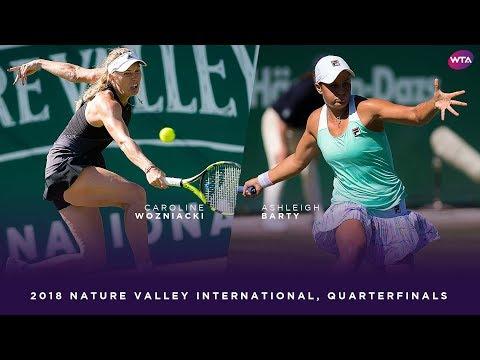 Caroline Wozniacki vs. Ashleigh Barty | 2018 Nature Valley International Quarterfinals