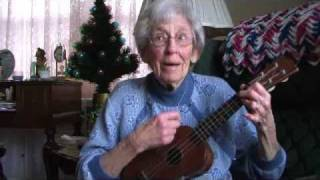 Aunt Vi and her ukulele