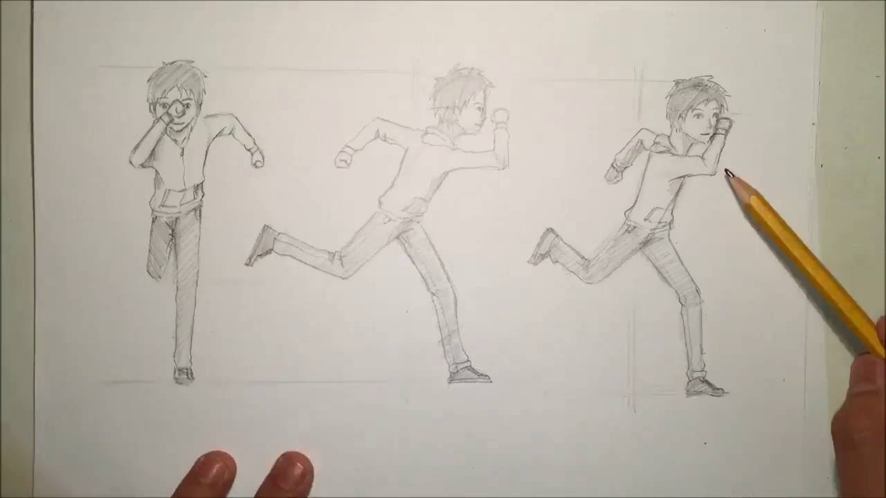 How To Draw Anime Running Pose From Different Angles [slow Narrated]