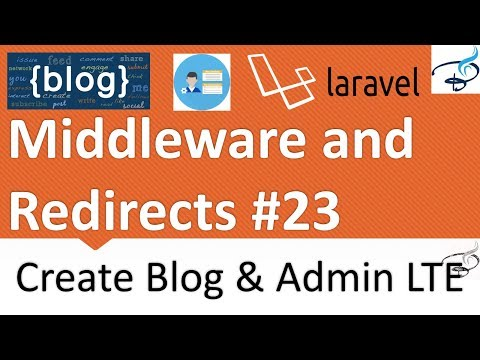 Laravel - Create Blog and Admin Panel | Middleware and Redirect for Admin Side #23