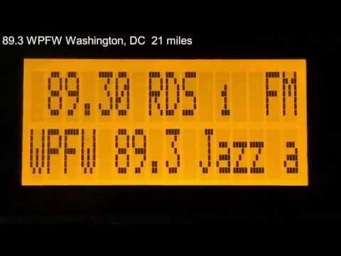 FM Radio Dial Scan - Washington, DC & Baltimore, MD - Sangean HDR-14 Radio