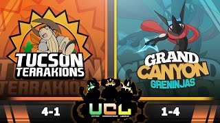 Pokémon ORAS LIVE Wi-Fi Battle [UCL S2W6] Tucson Terrakions vs Grand Canyon Greninjas