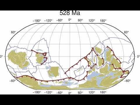 Mil millones de años de movimientos tectónicos en 40 segundos