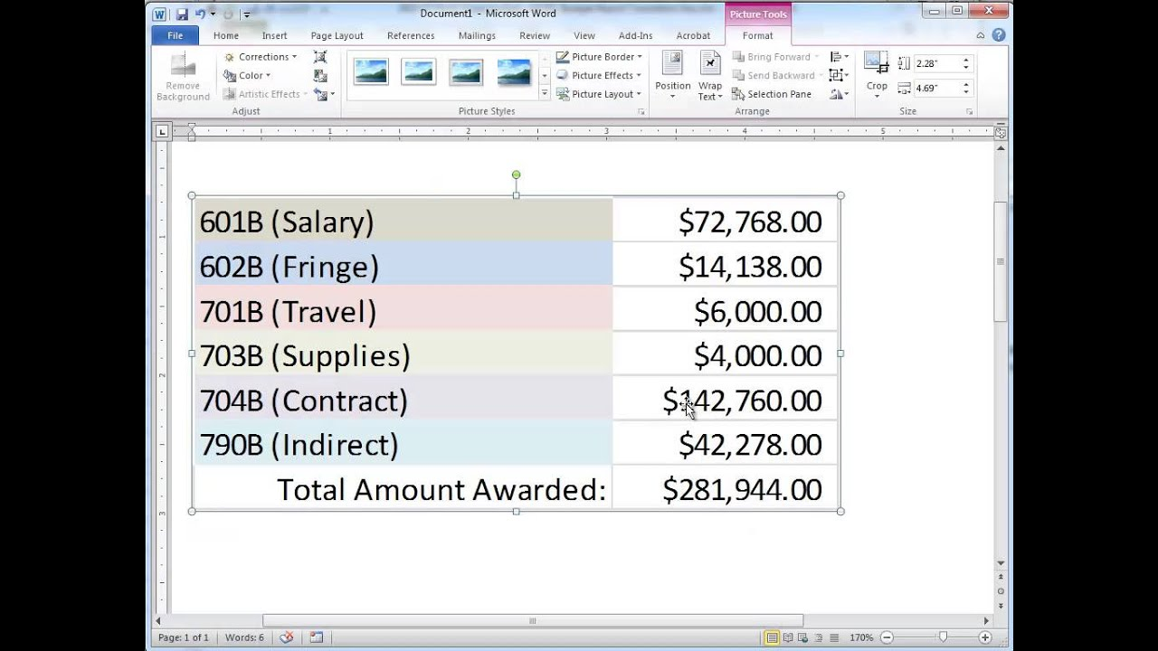 Paste Table From Excel Into Word Youtube