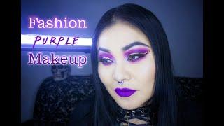 Purple Fashion Makeup