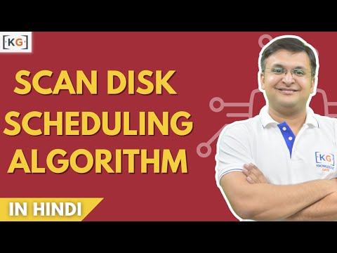 Part 7.4 SCAN disk scheduling algorithms in operating system in hindi example os csan look clook