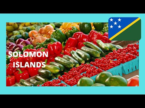 SOLOMON ISLANDS, the most spectacular market in HONIARA (Pacific Ocean)