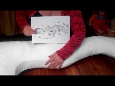 подушка для беременных рогалик - YouTube
