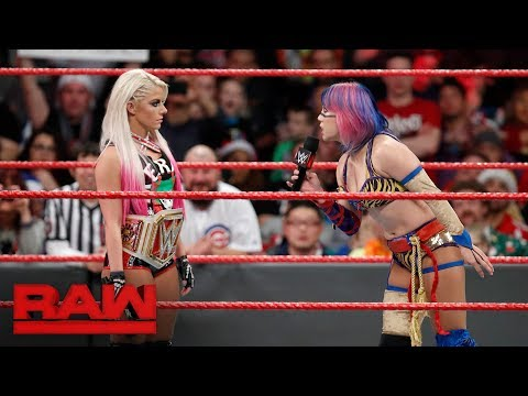 Asuka sets her sights on Alexa Bliss by entering the Royal Rumble Match: Raw, Dec. 25, 2017