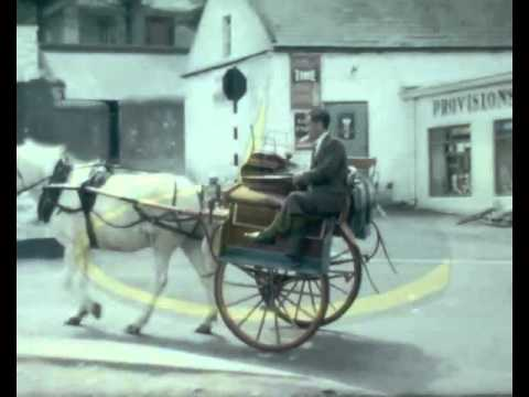 Isle of Man 1960s, shots of daily life on the island in the villages, horse & carts