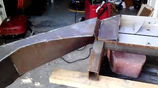 making a wj winch bumper part 1