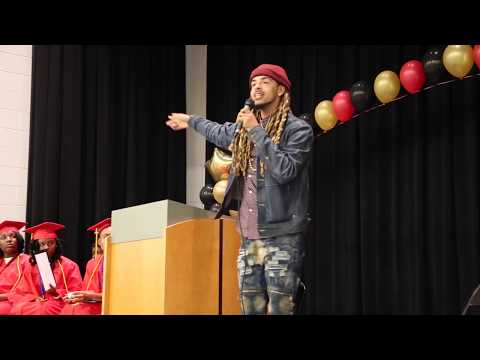 Dee-1 Gives Commencement Speech At Arise Academy