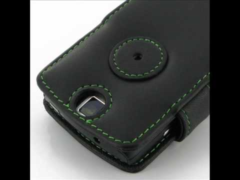 PDair Leather Case for Acer Allegro M310 - Book Type (Black/Green Stitchings)