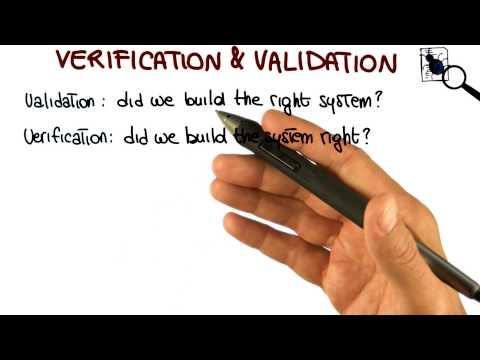 Verification & Validation - Georgia Tech - Software Development Process