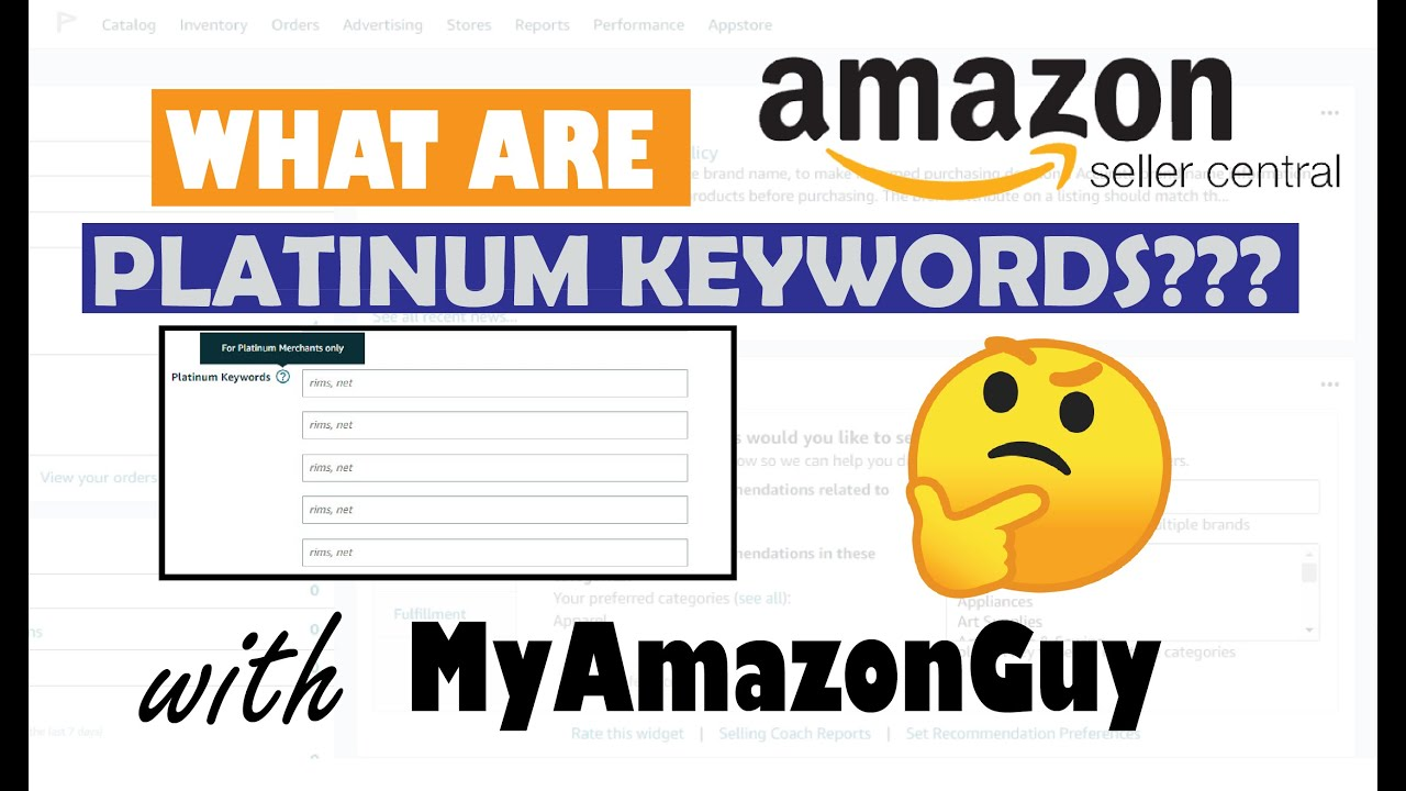 amazon seller central keywords