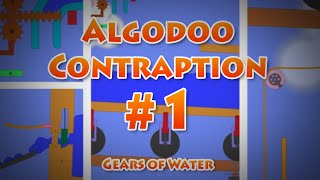 Algodoo contraption #1 - Gears of Water