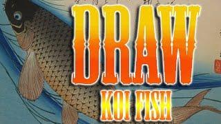How to draw Koi fish japanese tattoo tutorial