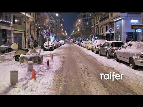 Βόλτα στην αποκλεισμένη με χιόνια Θεσσαλονίκη | Thessaloniki Night Snow Tour